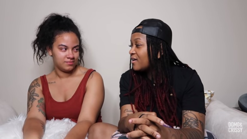 Still from Domo and Crissy's breakup video