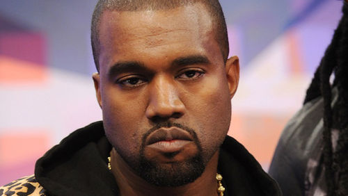 Kanye and his RBF. Photo via:  encyclopedia dramatica