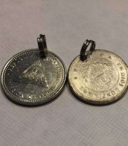 made by me with Nicaraguan coins