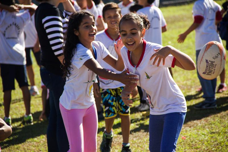 Algumas das 400 crianças que participaram do nosso Festival Interescolar