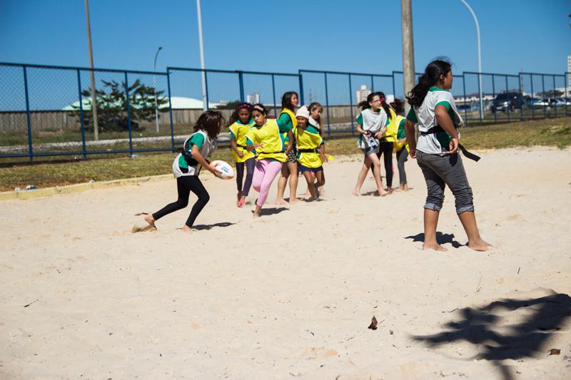 Beach Rugby no Festival Interescolar