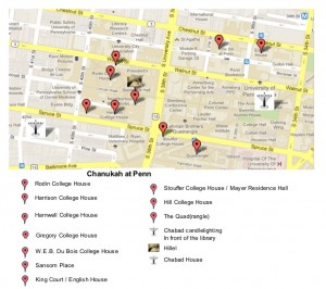 map of penn for chanukah