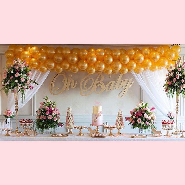 A pink and gold baby shower!  @kisswithstyle @langhammelbourne  @foamtasticpartydecor @chocolateno5_ @kellyscaketoppers @decoritevents  @cakemetoyourparty . . . . . . . #partydecorations #partyinspiration #desserttable #babyshowerideas  #australiaflorals #babyshower #eventphotography #eventphotographer #melbournephotography