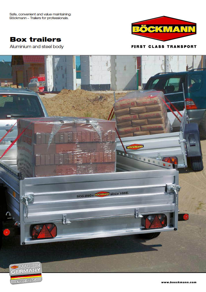 Brochure box trailers