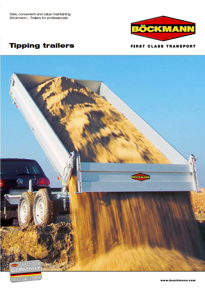 Brochure tipping trailers