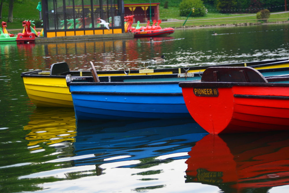 Boats at Peasholm Park, Scarborough
