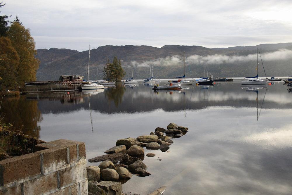Sleepy Boats on Loch Ness near Fort Augustus