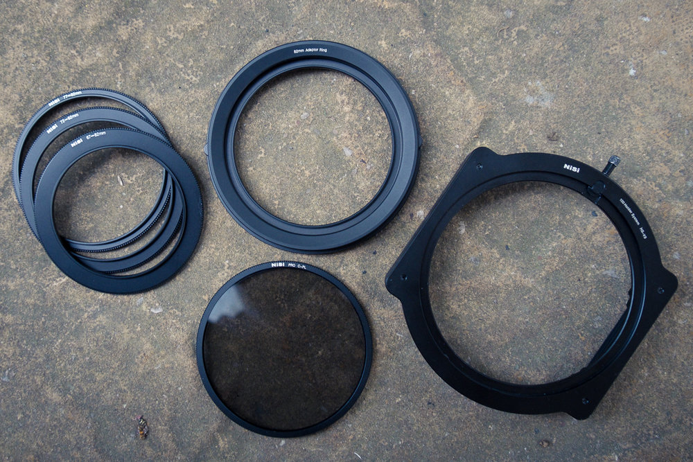 Nisi filter holder and adaptor rings