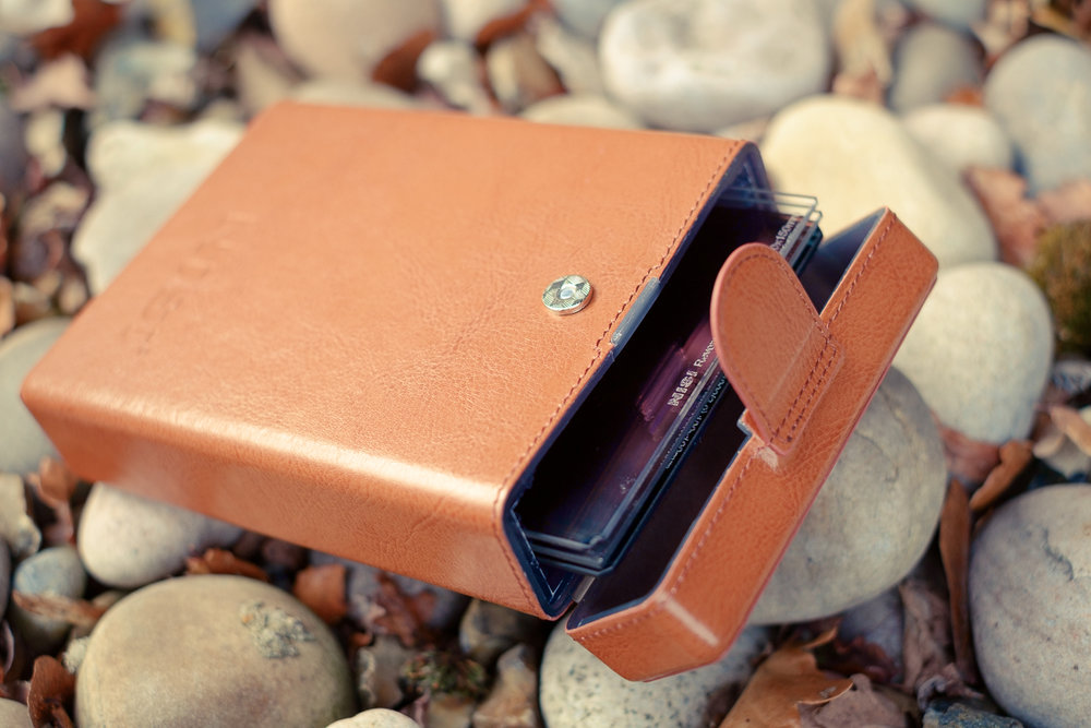 The Nisi leather effect filter case