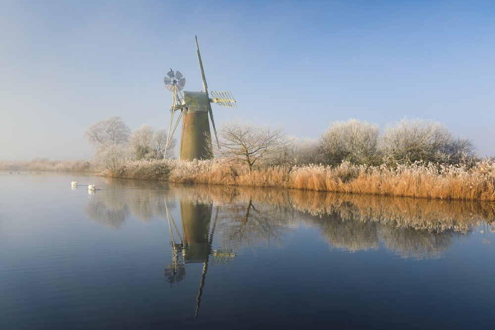 A winter morning at Turf Fen, Norfolk