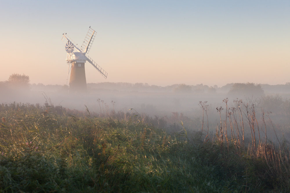 Soft morning light on St Benet's drainage mill - Thurne, Norfolk