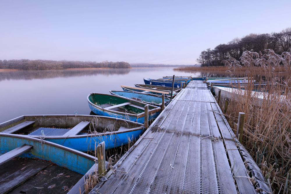 A crisp morning at Ormesby Little Broad, Norfolk
