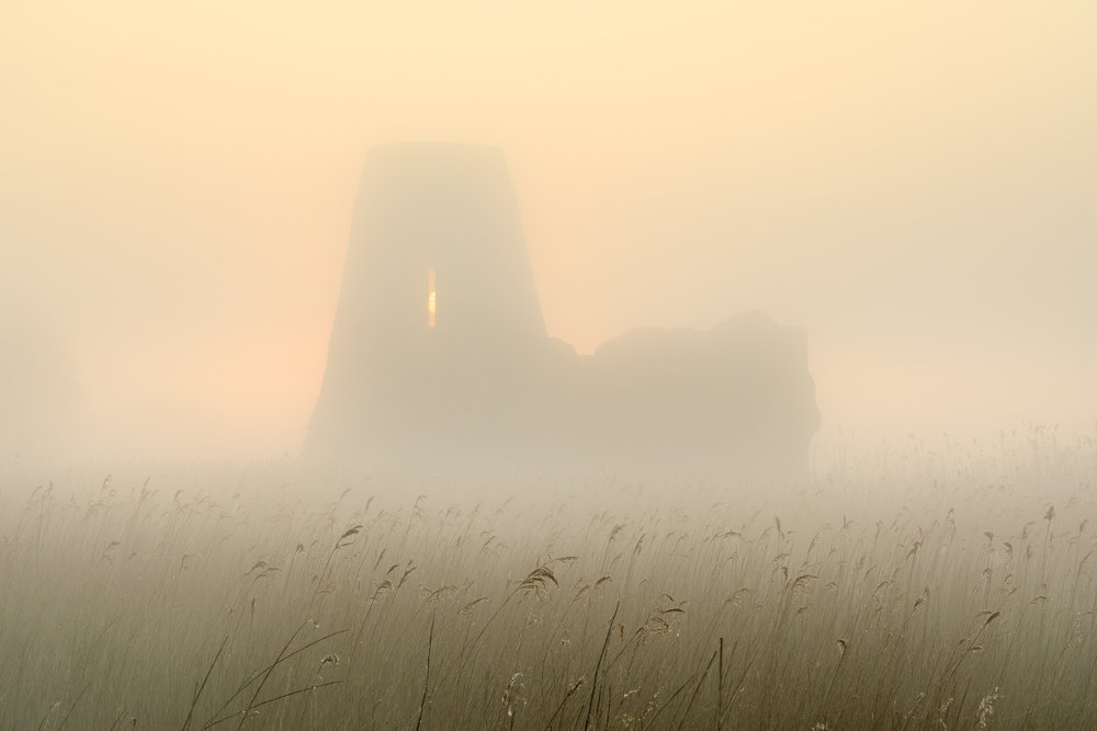 St Benet's Abbey in the mist, Ludham, Norfolk