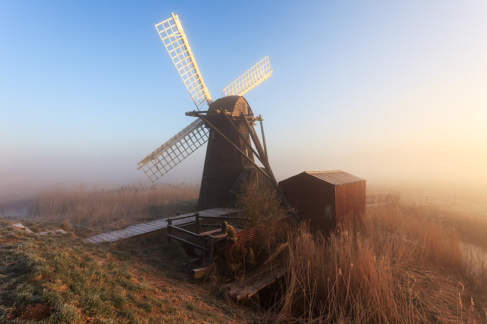 In the mist - Herringfleet, Suffolk