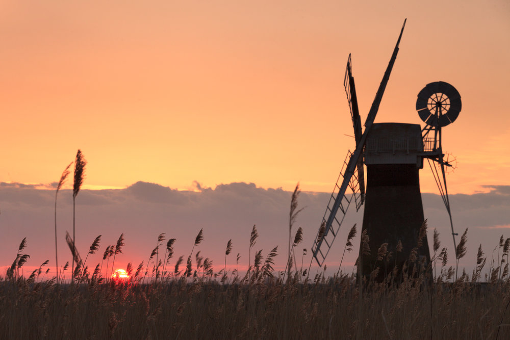 Sunset on the Broads - Thurne, Norfolk
