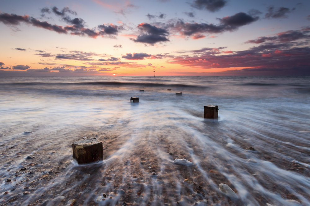 Sunset at Hunstanton, Norfolk