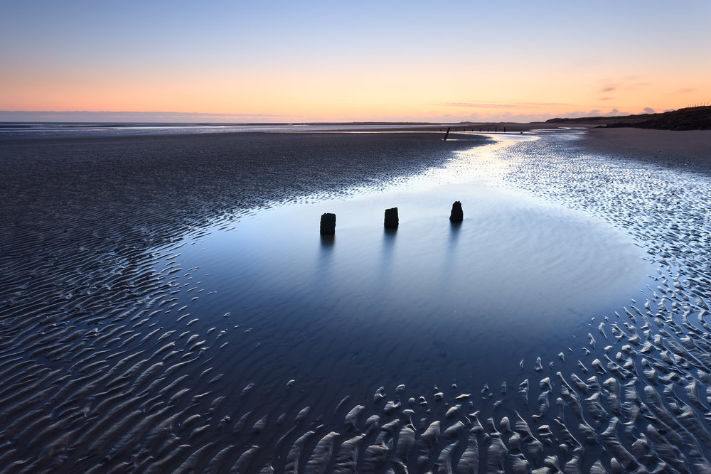 Brancaster beach at low tide, Norfolk