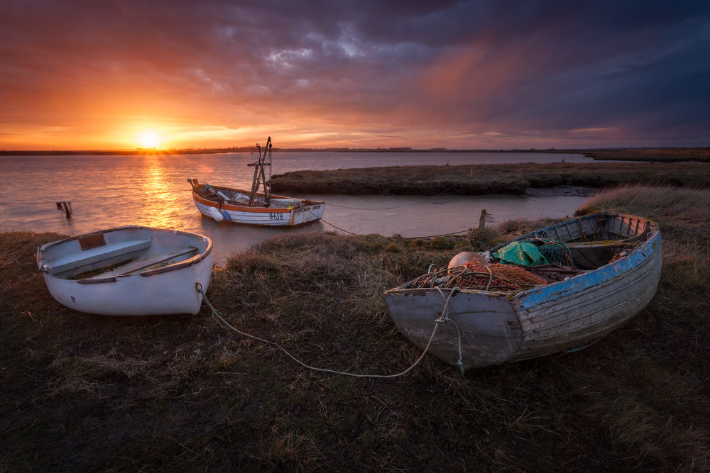 Three boats - Aldeburgh, Suffolk
