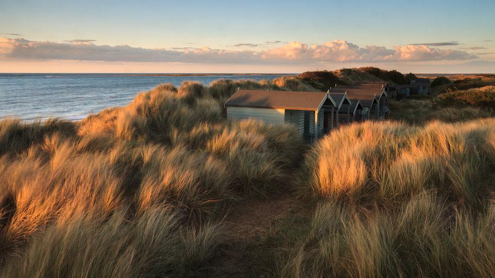 Beach huts in the dunes - Brancaster, Norfolk