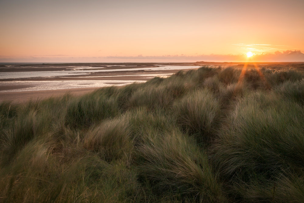 Sunrise at Brancaster beach, Norfolk