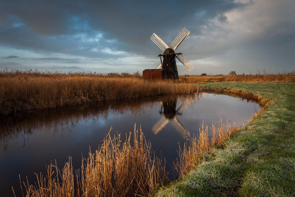 Changing weather at Herringfleet, Suffolk