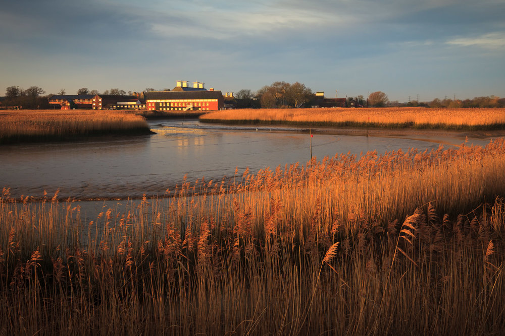 Winter light on Snape Maltings, Suffolk