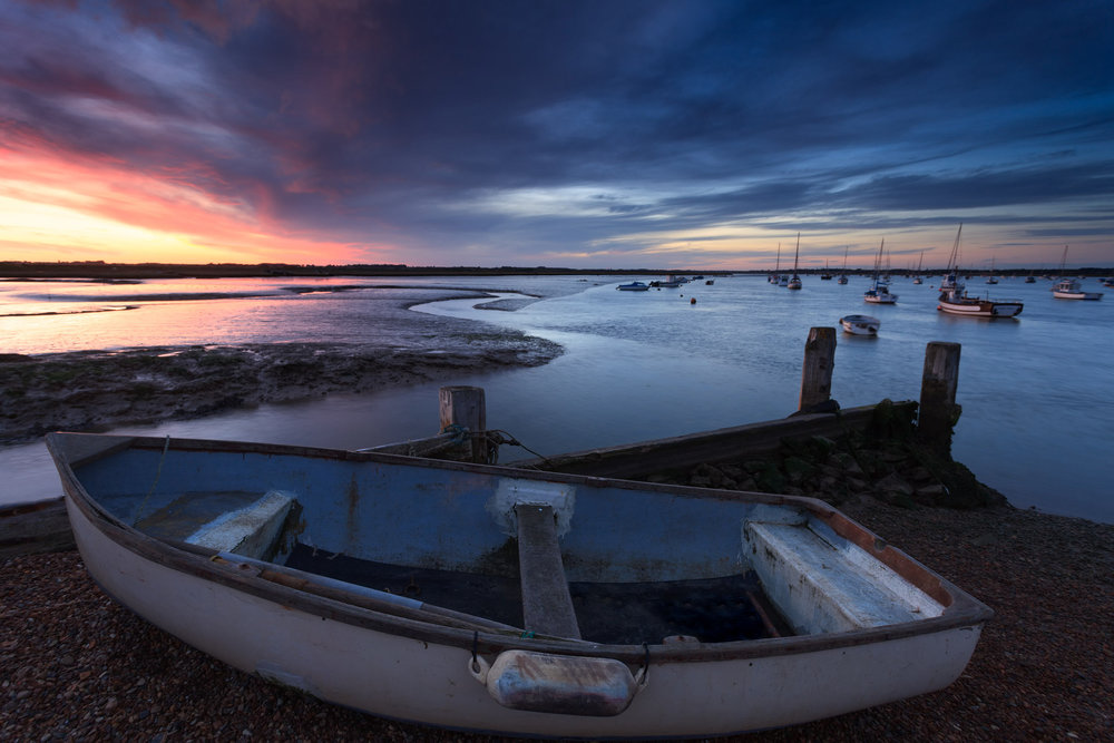 Sunset over the Deben - Felixstowe, Suffolk