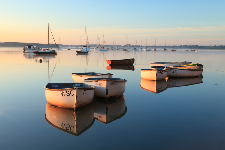 First light at Waldringfield, Suffolk