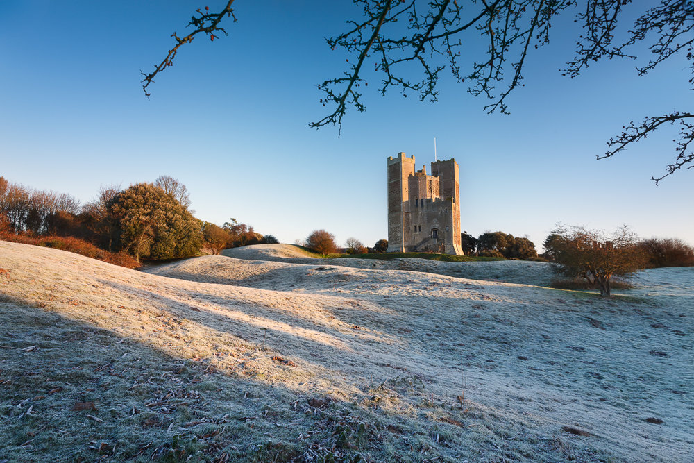 A wintry Orford castle, Suffolk