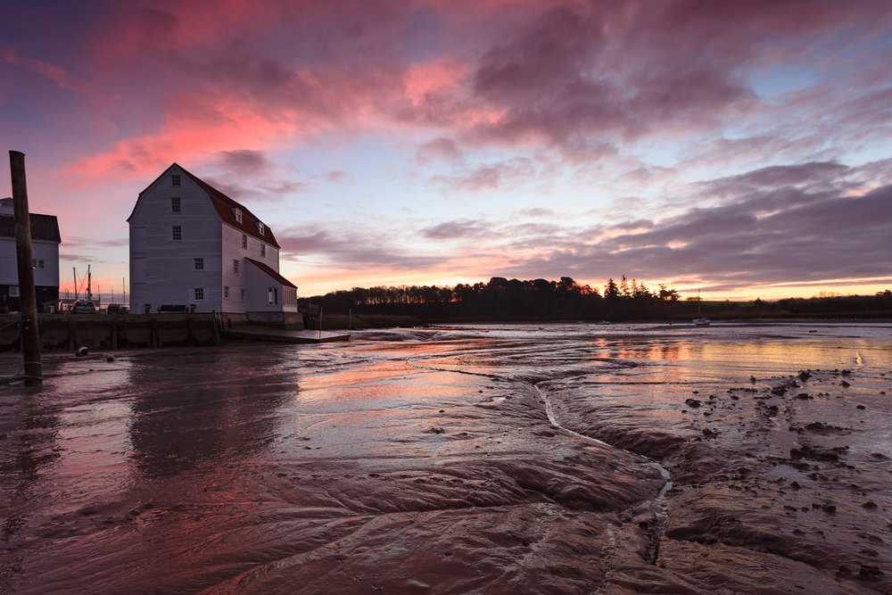 Woodbridge Tide mill, Suffolk at sunrise