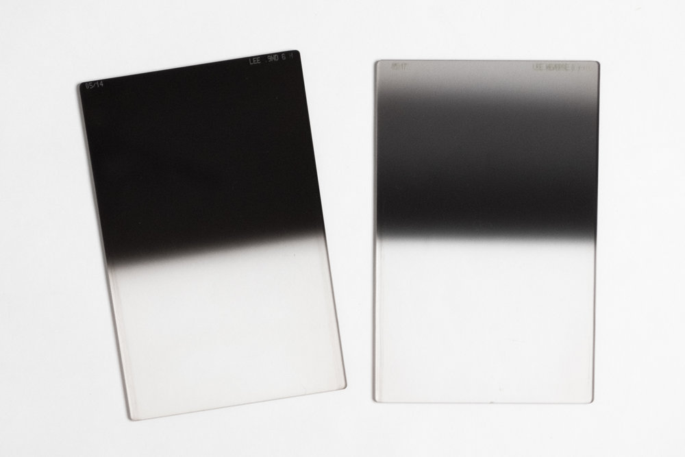 Lee filters 0.9 hard ND grad (left) and 0.9 Reverse ND grad (right)