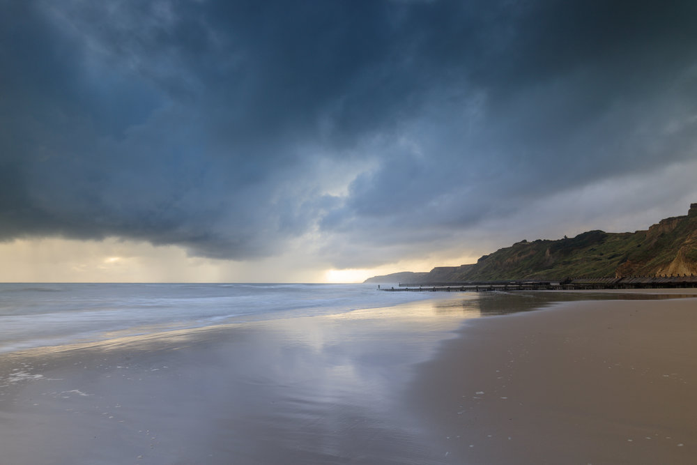 A chink of light at Overstrand, Norfolk