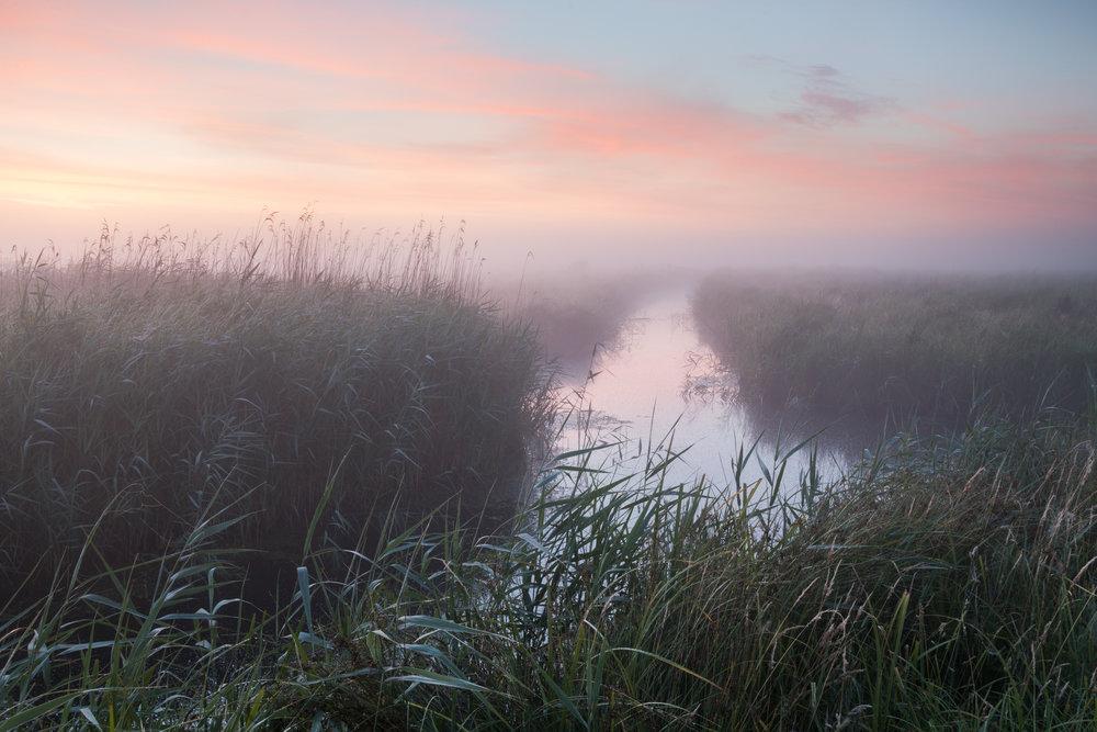 Dawn pastels - Halvergate, Norfolk