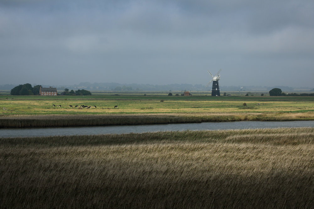 The view from Burgh Castle, Norfolk