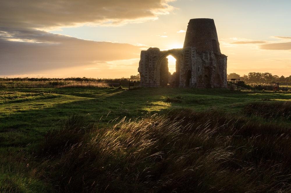 Last light on St Benet's Abbey, Norfolk