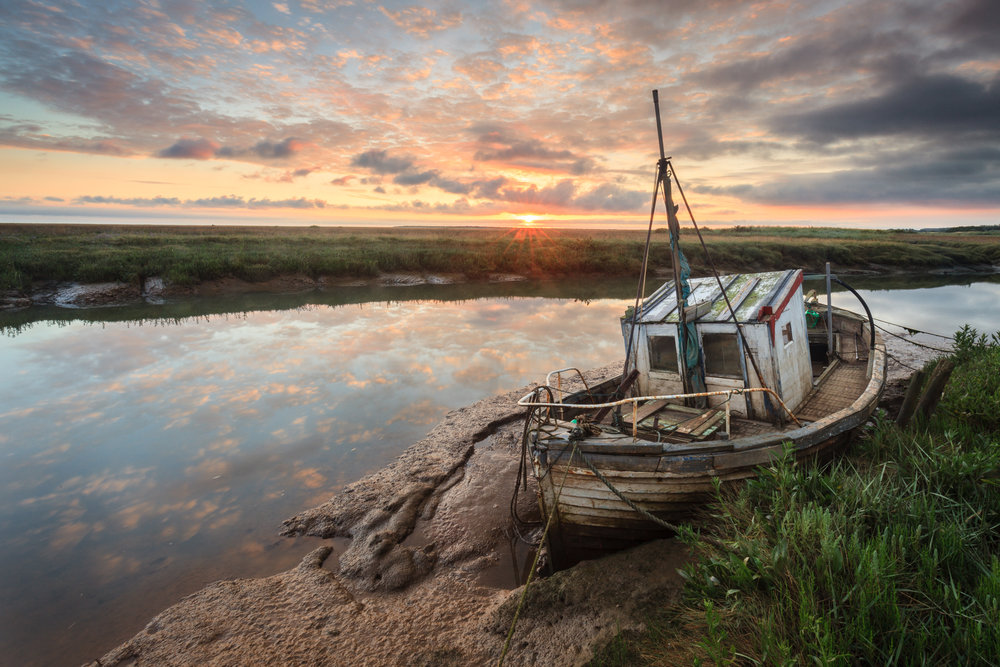 Old boats and big skies - Thornham, Norfolk