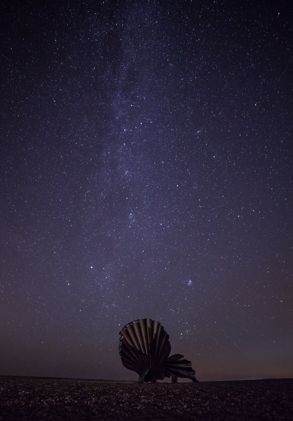 The scallop at night - Aldeburgh, Suffolk
