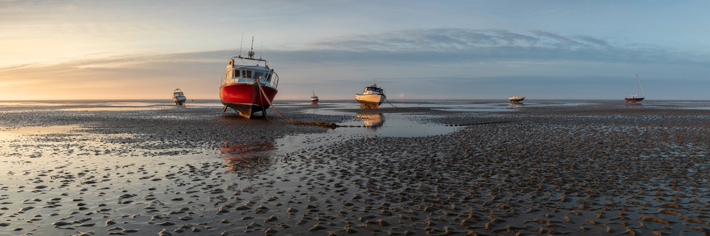 Low tide at Southend, Essex