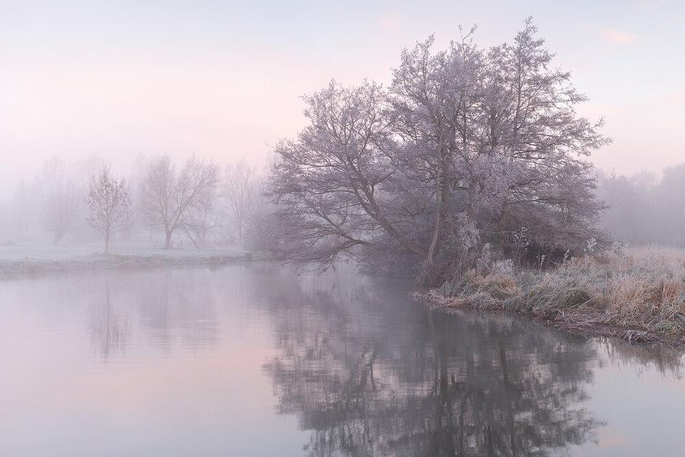 Stour frost - River Stour, Suffolk