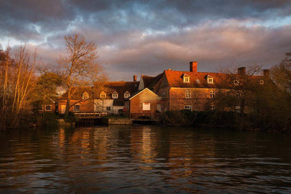 Winter light on Flatfrod Mill, Suffolk