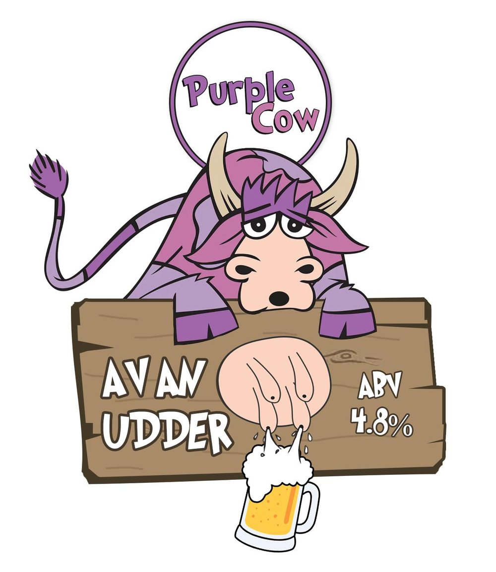 Av an Udder - ABV 4.8%This ale is made with different kinds of malt and 3 different types of hops. The hops predominantly coming from the U.S with a slight N.Z addition that gives this ale a fruity and floral aroma with slight malty caramel tones.Taste Note: Apricot, Bubblegum and Rose