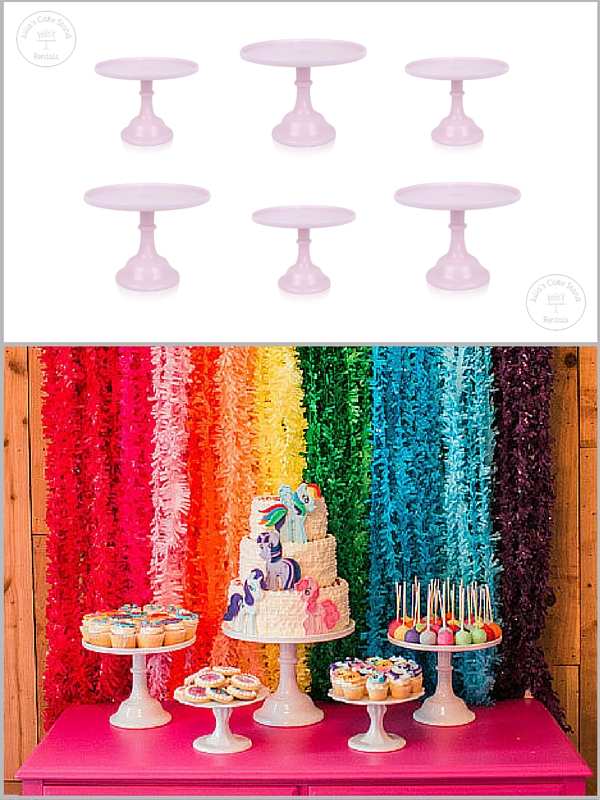 Cake Stands: Julia's Cake Stand Rentals , Dessert Table: PopSugar
