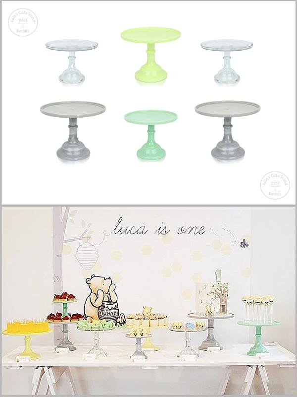 Cake Stands: Julia's Cake Stand Rentals , Dessert Table: Pretty Pedestals