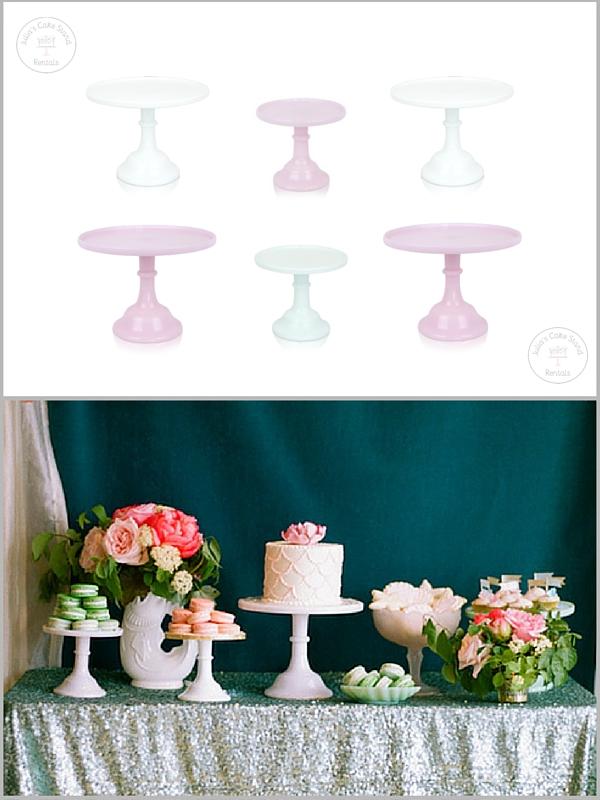 Dessert Stands: Julia's Cake Stand Rentals , Dessert Table: Wedding Chicks