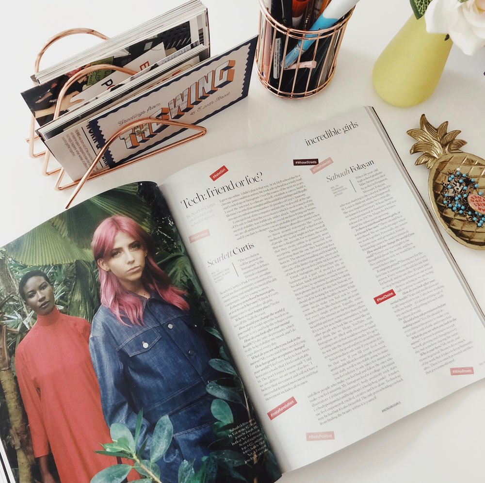 With Sabaah Folayan in Porter Magazine's Incredible Girls Issue