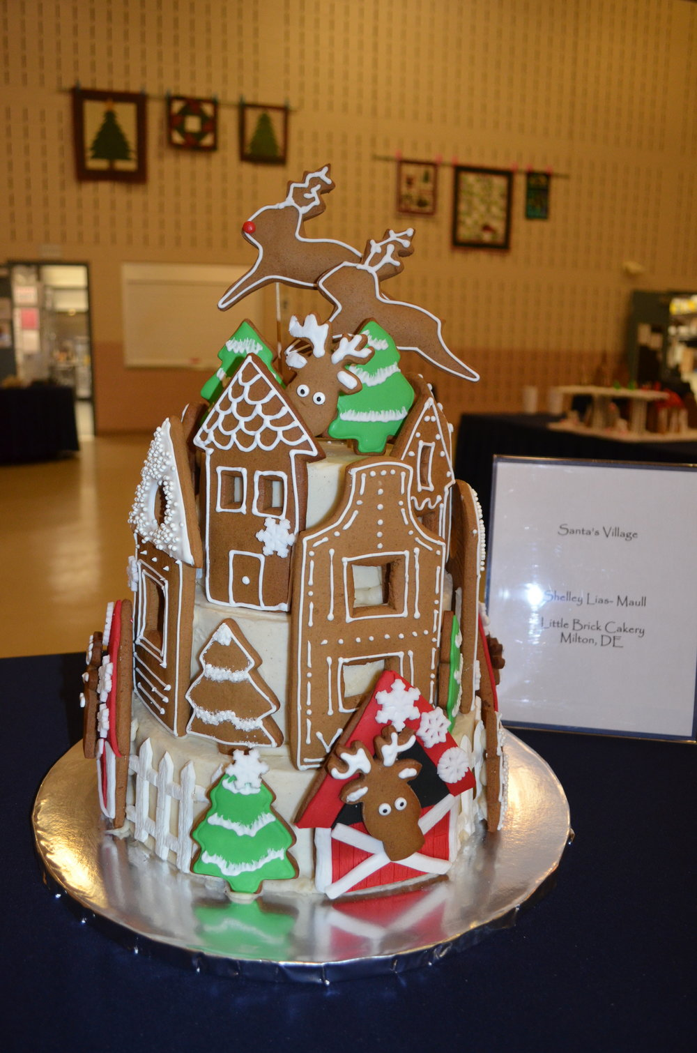 "'Santa's Village"" - Shelley Lias-Maull, Little Brick Cakery, Milton, DE"
