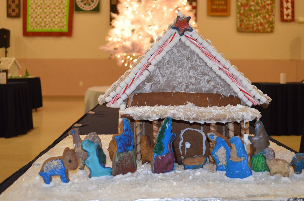 """Gingerbread Nativity"" - Ronnie Burkle, SoDel Concepts"