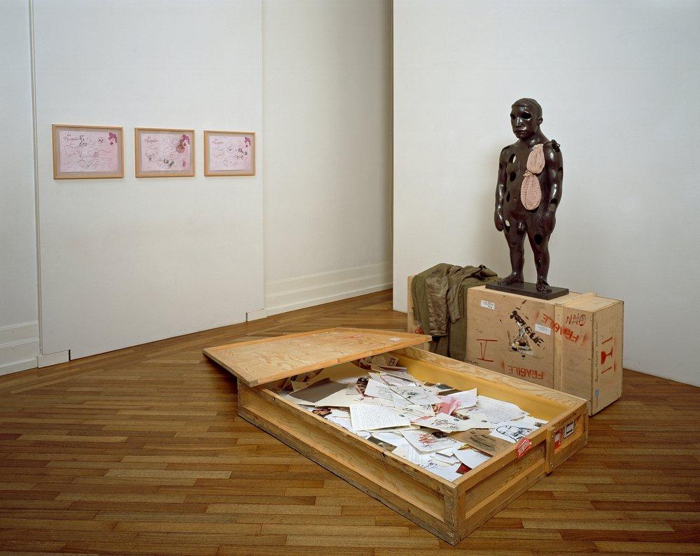 Bjarne Melgaard, Lightbulb Man, 1997 © Bjarne Melgaard / BONO Foto: Nasjonalmuseet