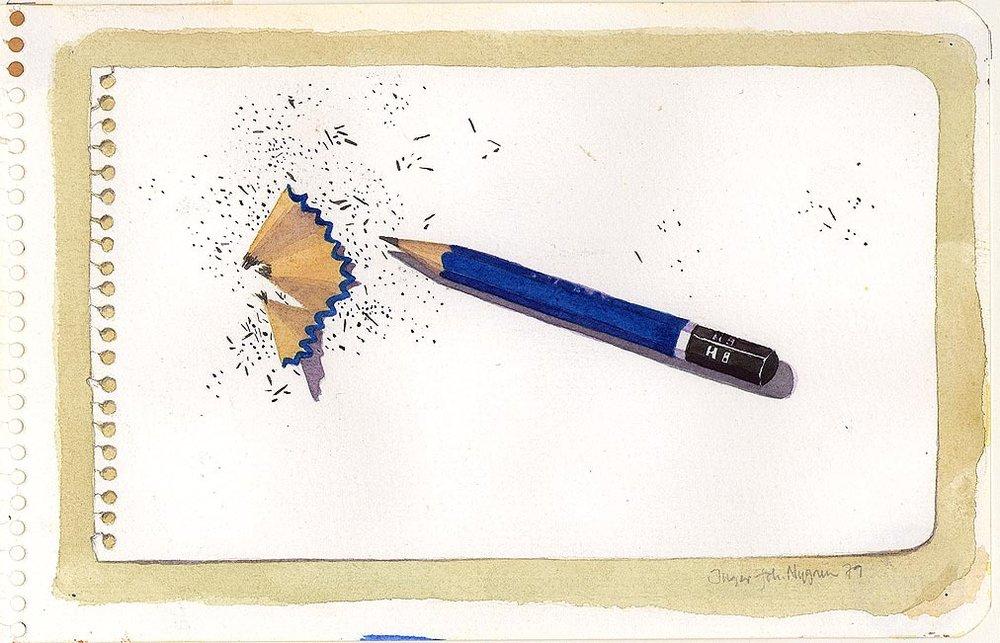Inger Johanne Nygren, Spisset blyant, 1979 © Inger Johanne Nygren / BONO Foto: Nasjonalmuseet
