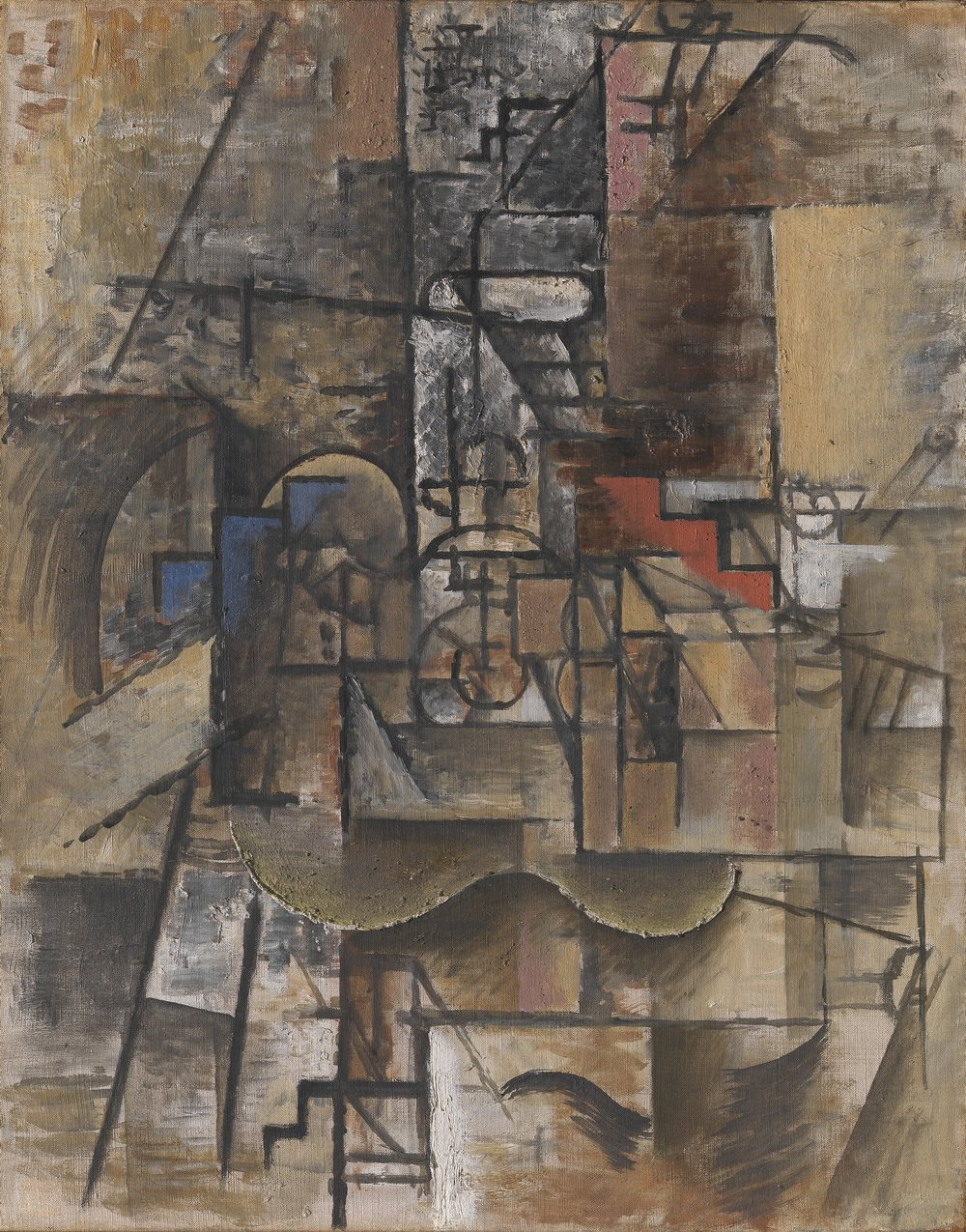 Picasso, Gitar og glass, 1911 © Pablo Picasso / Succession Pablo Picasso / BONO Foto: Nasjonalmuseet